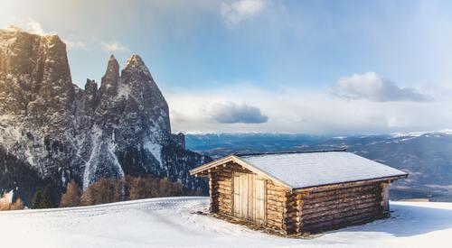 Huisje op berg Alpe d'Huez