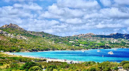 Mooie kust in Sardinië