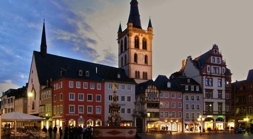 Trier centrum avond