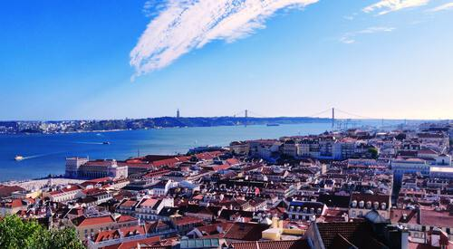 Rivier de Taag bij Lissabon